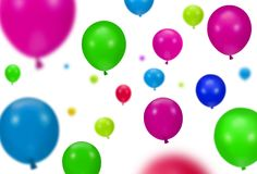 Background of color party balloons Royalty Free Stock Photo