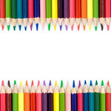 Background with color pencils stock image