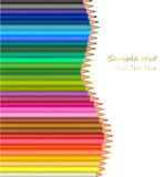 Background with color pencils. Vector Royalty Free Stock Images
