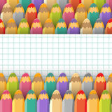 Background with color pencils. Vector illustration. Stock Images