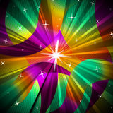 Background Color Represents Sun Rays And Glowing Royalty Free Stock Images