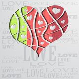 Background with color strip heart Stock Images