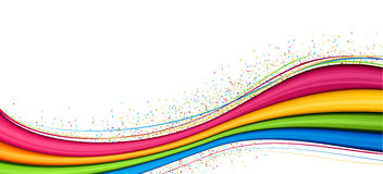 Background with color strips. White background with color strips. Vector illustration Stock Photos