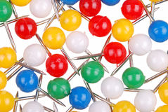 Background from color thumbtacks on white Stock Photography