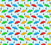 Background with color umbrellas. Royalty Free Stock Photography