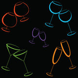 Background with color wineglasses Royalty Free Stock Images