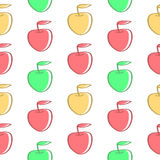 Background of Colored Apples. Background of color apples, seamless texture Royalty Free Stock Image