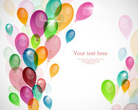 Background with colored balloons Stock Photos