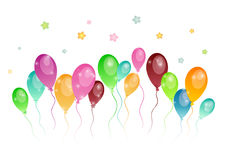 Background with colored balloons Stock Images