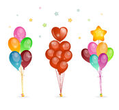 Background with colored balloons Stock Photography