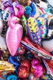 Background with colored balloons royalty free stock photo