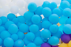 Background of colored balloons holiday decorations Royalty Free Stock Photography