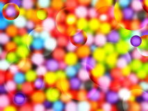 Background with colored balls Stock Photography