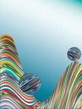 Background from the colored bars. Stock Image