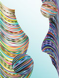 Background from the colored bars. Stock Photography