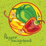 Background of colored bell peppers Stock Photo