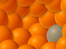 Background of colored bubbles, II. Background of colored bubbles. Concept: BE DIFFERENT! BE HIMSELF vector illustration