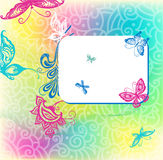 Background with colored butterflies Stock Photography