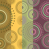 Background colored with circles. Half-circles in different colors stock illustration