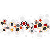 Background with colored circles. And dots Royalty Free Stock Image