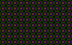 Background with colored circles on a black background. In Stock Photo