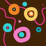 Background with colored circles, brown, seamless. Stock Photo