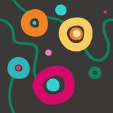 Background with colored circles, grey, seamless. Stock Images