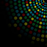 Background with colored circles Stock Images