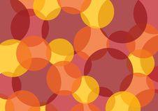 Background with colored circles. With warm colors Stock Photos