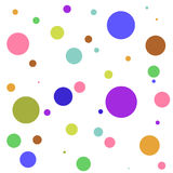 Background of colored circles on a white background Royalty Free Stock Photos