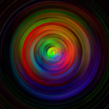Background of colored concentric circles. Abstract background of colored concentric circles on a dark vector illustration