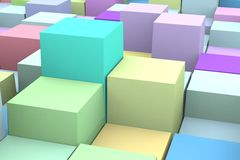 Background with the colored cubes. Royalty Free Stock Photography