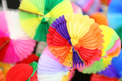 Background Colored Decorations For Drinks Stock Photography
