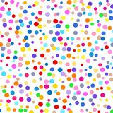 A background of colored dots of different sizes chaotic on white . A background of colored dots of different sizes chaotic on white for text stock illustration