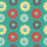 Background with Colored Flowers Stock Images