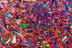 Colored graphite crumbs. Background of colored graphite crumbs a close-up stock images