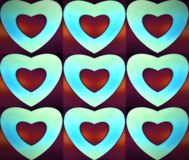 Background of colored heart. Elegant  wallpaper design for web or graphic art projects. Abstract background for business cards and covers. Design for paper and Royalty Free Stock Photography