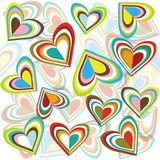 Background with colored hearts. Background with abstract colored hearts Stock Image