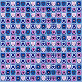 Background from colored hearts Stock Image