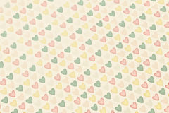 Background colored hearts Royalty Free Stock Photography