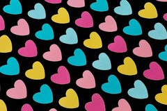 Background colored hearts Royalty Free Stock Image