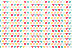 Background colored hearts Stock Photos