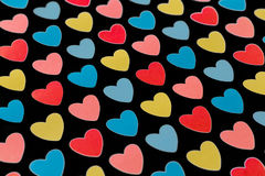 Background colored hearts Royalty Free Stock Photo