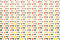 Background colored hearts Stock Image