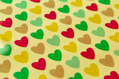 Background colored hearts Stock Images