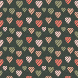 Background with Colored Hearts Stock Image