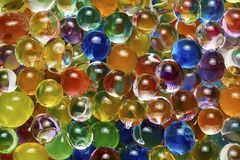 Background of colored hydrogel balls. Background of many colored hydrogel balls Royalty Free Stock Photos