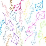 Background with colored kites Royalty Free Stock Image