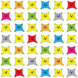 Background with colored kittens. Vector background with colored kittens Royalty Free Stock Image