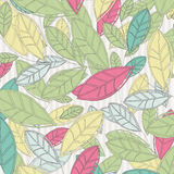 Background with colored leaves Royalty Free Stock Photos